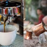 Espresso vs Turkish coffee